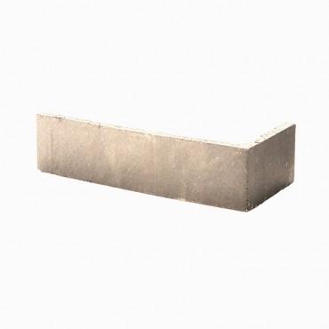 Angles de brique CHROMA lisse ton blanc
