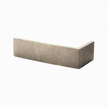 Angles de brique CHROMA lisse ton gris clair
