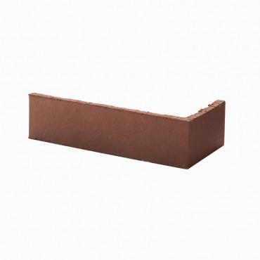 Angles de brique CHROMA lisse ton rouge